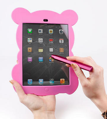 Case In Pink Panda Style With Large Easy Grip Pink Stylus for Apple iPad Mini