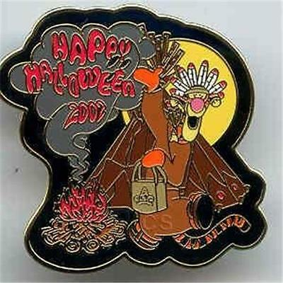 TIGGER NATIVE AMERICAN TRICK OR TREAT Series 2002 HALLOWEEN LE 1500 DISNEY PIN