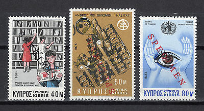 Cyprus 1976 Anniversaries And Events - Specimen Mnh
