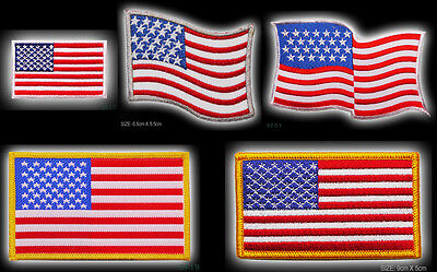 USA STARS & STRIPES United States of America Iron-On / Sew-On Patch Collection