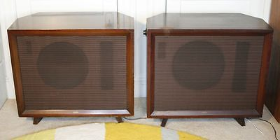 """Pair of Large Vintage ELECTRO VOICE """"The Empire"""" Speakers. 15TRXB Drivers 50's!"""