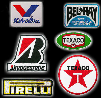 Motorsport Racing Sponsorship Brand Embroidered Iron-On Patch Collection - NEW