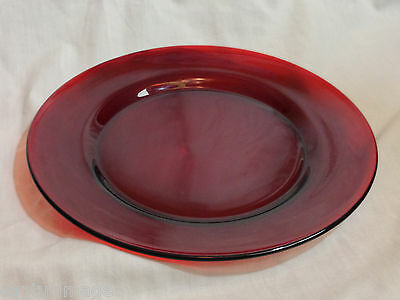 """8"""" Snack Plate from 1930s Genuine Ruby Red Depression Glass by Anchor Hocking"""