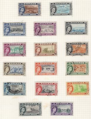 Bahamas 1954 definative QE2 set fine used