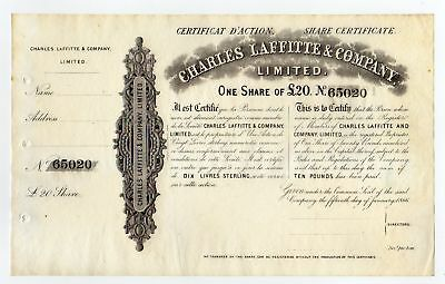 Great Britain 1866 Charles Laffitte & Co. Ltd
