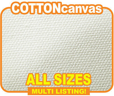 "Inkjet Cotton Canvas, Matte 100% Cotton Roll 340gsm x 18m. All Sizes 13"" - 60"""