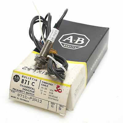 Allen-Bradley 871C-P2A12 Cylindrical Inductive Proximity Sensor