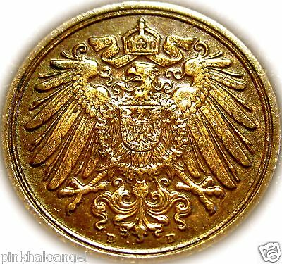 Germany - The German Empire - German 1914D Pfennig Coin - Great Coin