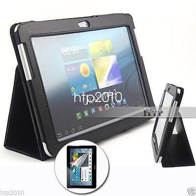 Slim Leather Flip Case Cover For Samsung Galaxy Tab 2 10.1+Screen Protector AU