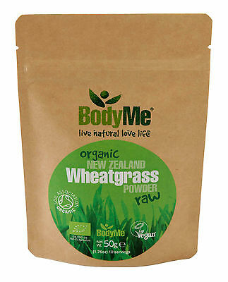 BodyMe Organic New Zealand Wheatgrass Powder 50 g (Soil Association Certified)