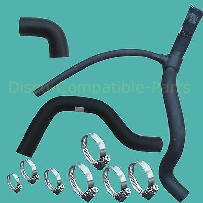 Land Rover Defender 200 TDi Radiator Hose + Stainless Steel Hose Clamp Kit