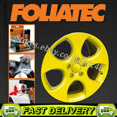 Foliatec YELLOW Car Alloy Wheels Bike Boat Peel Off Protective Film Spray Paint