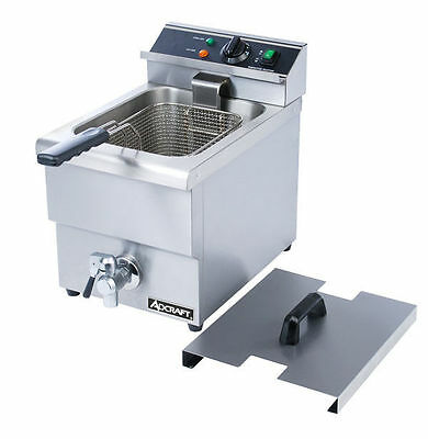 ADCRAFT DF-12L Commercial Deep Fryer With Drain and Cover Included NSF