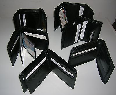 Paul Walter Mens Black Leather Bifold / Trifold Wallet Wholesale Lot 48 Wallets