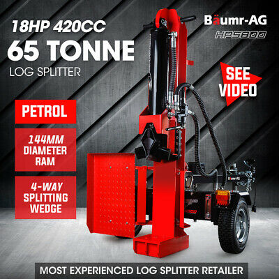 NEW Baumr-AG 65 Ton Petrol Hydraulic Log Splitter Wood Firewood Block Cutter Axe