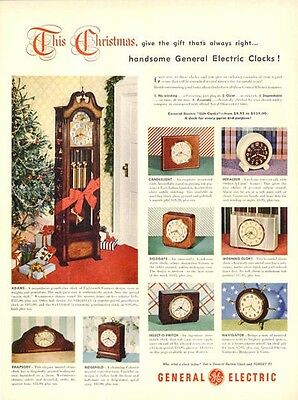 1948 G.E. General Electric 9 models including Adams Grandfather Vintage PRINT AD