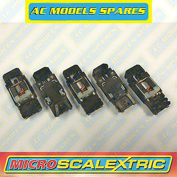 Micro Scalextric Spare F1 Chassis, Motor & Guide x5