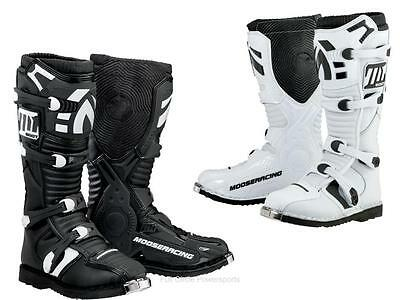 Moose M1.2 MX Riding Boots Strap Adult Sizes Black or White Off-Road Motocross