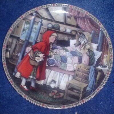 """1988 Edwin M. Knowles Collector Plate""""Little Red Riding Hood"""" Plate #7371 A"""