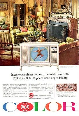 1965 RCA Victor Copper Circuit Vintage Television Mary Martin PRINT AD