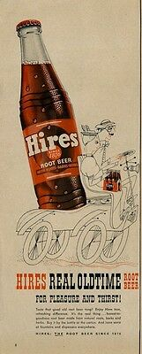 1953 Hires Rootbeer Real Old time Fun Old Soda Pop PRINT AD