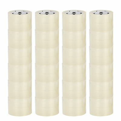 "24 Rolls of PSBM BRAND 3"" x 110 Yards (330 ft) Clear Carton Sealing Packing Tape"