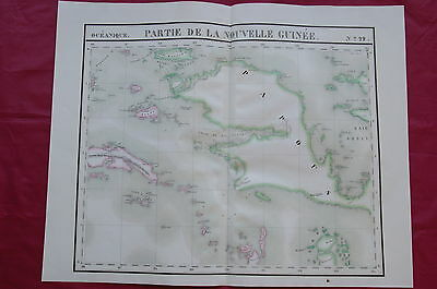 New Guinea - 2 Maps - Large Scale Vandermaelen 1827