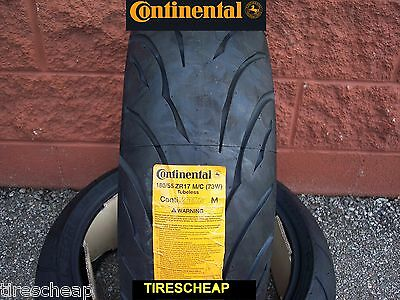 180/55Zr17 Rear Continental Motion Sport Bike Motorcycle Tire - Free Shipping
