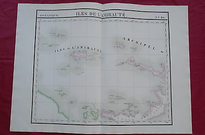Admiralty Islands - Papua New Guinea - 1827 Large Scale Map