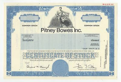 SPECIMEN - Pitney Bowes Inc. Stock Certificate