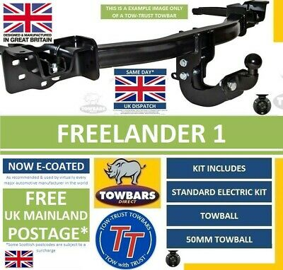 Towbar kit for Land Rover Freelander 1 1997 to 2006 Flange Tow Bar Complete Kit