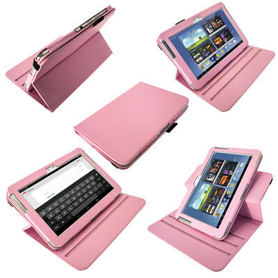 Pink PU 360° Leather Case for Samsung Galaxy Note 10.1 N8000 Android WiFi Cover