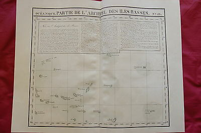 1827 Set of 3 MAPS - FRENCH POLYNESIA - BASS ISLANDS by Vandermaelen