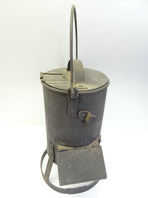 Antique Old Metal Cast Iron Portable Metalworking Soldering Iron Heater Parts