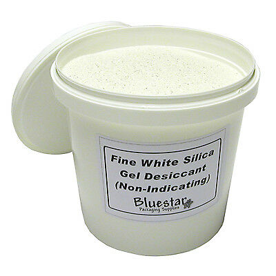 2kg Tub Fine Pure White Silica Gel Desiccant Granules for Flower Drying etc