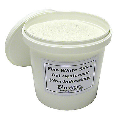 3kg Tub Fine Pure White Silica Gel Desiccant Granules for Flower Drying etc