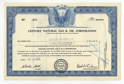 Century Natural Gas & Oil Corp Stock Certificate