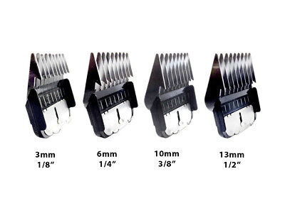 Metal Comb Guides that fit Oster, Andis & A5 dog clipper blades by Masterclip