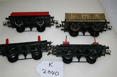 O gauge hornby  tinplate clockwork  wagons  x 4 GOOD  [k2040]