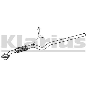 VAUXHALL ASTRA H 1.8 & SRi 04-09 EXHAUST FRONT PIPE FLEXI Z18XE **