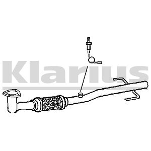 Vauxhall Vectra C 1.8 121BHP 16V 02-06 EXHAUST FRONT SILENCER PIPE WITH FLEXI