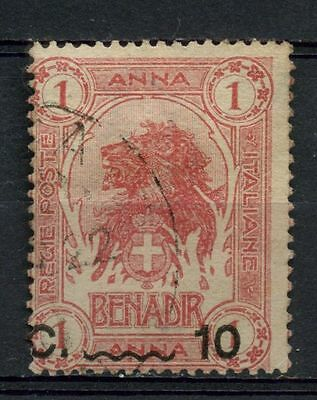 Somalia 1906-16 SG#12, 10c On 1a Lion Used #A41891