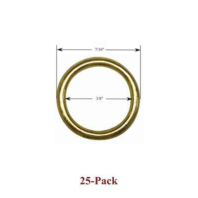 """25 Pack of 1/2"""" Sew on BRASS CORD GUIDE RINGS for Woven Woods & Roman Shades NEW"""