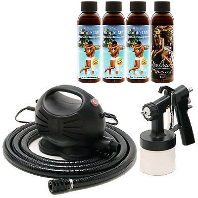 Apollo HAPPY MIST Sunless Airbrush TURBINE SPRAY TANNING SYSTEM Simple Solutions