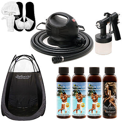Apollo HAPPY MIST Sunless Airbrush Spray Tanning System Simple Solution Kit Tent