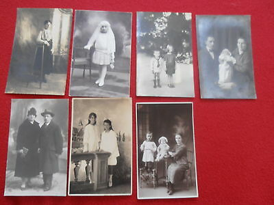 Lot De 7 Cartes Postales Photo Fantaisie Couple Enfant Bebe Femme