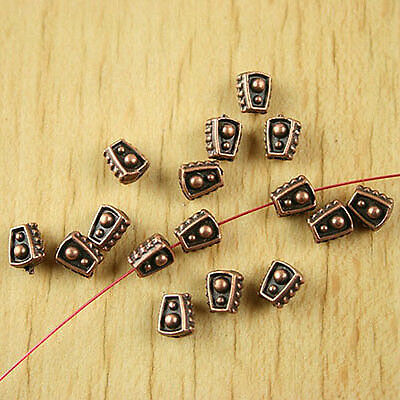 80pcs copper-tone shield spacer beads h1886