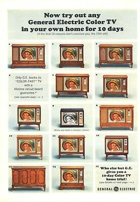 1964 G.E. General Electric Television TV 13 models PRINT AD