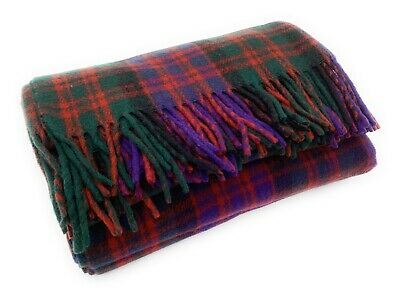 Ingles Buchan Of Scotland Wool Travel Picnic Scottish Tartan Clan Rug