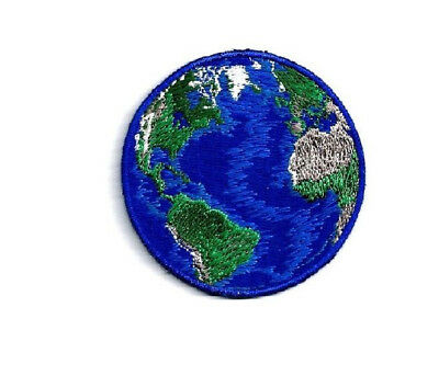 Earth - World - Planet - Earth Day - Nature - Embroidered Iron On Patch - B
